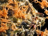Постна спаначена мусака с ориз
